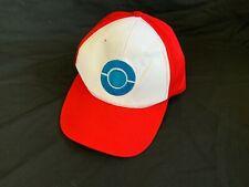 Pokemon Ash Ketchum Trainer Baseball Cap Adult Size Blue Poké Ball Sun Hat