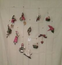 HOUSE OF HATTEN ORNAMENTS COMPLETE SET 12 DAYS OF CHRISTMAS HOH BEAUTIFUL