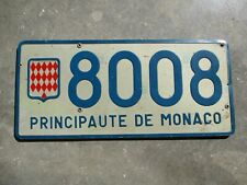 Monaco Principat license plate #  8008
