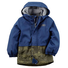 Carter's Baby Boy's Fleece-Lined Camo-ColourBlock Windbreaker Jacket 12M NWT