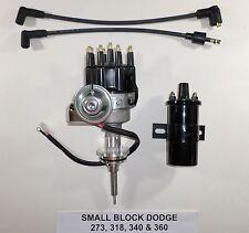 DODGE Small Block 273-318-340-360 BLACK SMALL CAP HEI Distributor + Black Coil