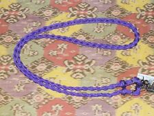 Shetland /small pony plaited marine rope reins, PURPLE,1.9mts,removable clips