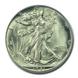 1941-D 50C Walking Liberty Half Dollar PCGS MS66