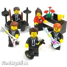R9 Lego Musician Singer Star Actor Minifigures & Piano Musical Instruments NEW
