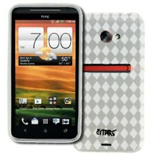 EMPIRE Poly Skin TPU Case Gel Cover Clear Diamonds for HTC EVO 4G LTE