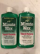 VINTAGE (2)  Turtle Wax Minute WAX Silicone Car Wash Liquad Formula 16 Oz