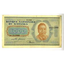 Katanga - billet de 1000 Francs 31.10.60