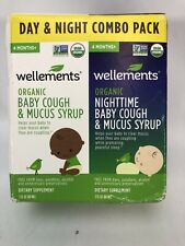 Wellements Organic Baby Cough and Mucus Syrup Day and Night Combo New