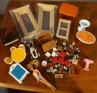 VTG Dollhouse Miniatures Furniture Doors Big Lot