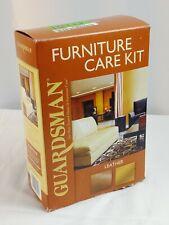 Guardsman Leather Furniture Care Kit Clean Renew Wipes Polish Polishing Cloth