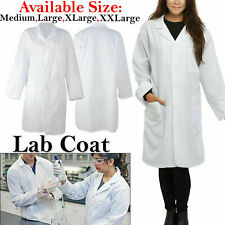White Lab Scientist Coat Unisex Medical Doctor Dress Warehouse Doctors Costume
