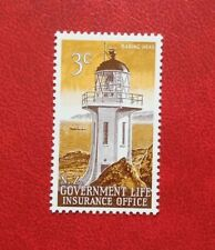 NEW ZEALAND 3c POSTAGE STAMPS LIGHTHOUSE GOVERMENT LIFE INSURANCE OFFICE MH