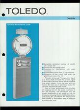 Rare Vintage Orig Toledo Scale Dealer Sheet Page: Universal Photoelectric Cutoff