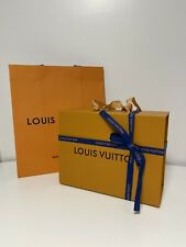 Louis Vuitton Gift Box SMALL 9.75×7.5×4.25 With Paper Shopping Bag & Ribbon NEW