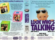 LOOK WHO'S TALKING - Travolta -VHS -PAL -NEW -Never played! -Original Oz release
