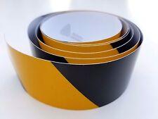 "10 X Black & Yellow Safety Stripe, Reflective Caution Warning Tape Usa 2"" x 70"""