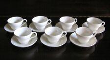7 Cup & Saucer Sets Wedgwood Queensware Queen's Ware Plain