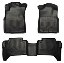 2005-2013 Toyota Tacoma Husky Black WeatherBeater Front & 2nd Row Floor Liners