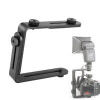 L-Shaped Double Metal Bracket/Holder Mount F Canon Nikon Camera Speedlite Flash