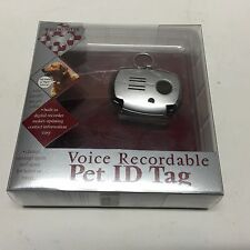 VOICE RECORDABLE PET ID TAG