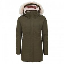 The North Face Girl's ARCTIC SWIRL DOWN PARKA 550 Jacket New Taupe Green M 10-12