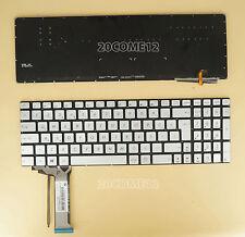 for ASUS R555J R555JK R555JM R555JQ Keyboard Turkish Klavye Backlit No Frame