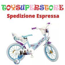 """Toimsa 696 Bici 16"""" Bimba Frozen Disney 5+ Anni con Porta Bambole e Cestino"""