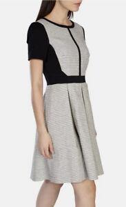 Karen Millen Black And White Dress DV145 Size UK10/US6/EU38