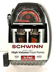 Schwinn Gust Max High Volume Foot Pump 100 Max psi, 400cm volume New