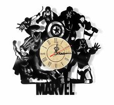 "NEW Vinyl Record Wall Clock ""Marvel Avengers"", cool modern, decorative art ~ 12"""