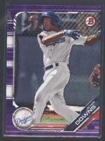 2019 Bowman Prospect JETER DOWNS Rookie RC #115 Purple Parallel /250 Dodgers