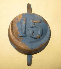 Insigne  casque ADRIAN 15 ème Régiment de Tirailleurs,1 ère guerre bleu horizon.