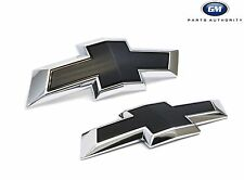 2018 Chevrolet Equinox Front & Rear Black Bowtie Emblem Pkg 23373665 Genuine OEM