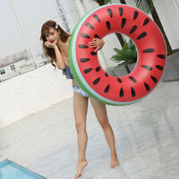 Inflatable Large Swimming Ring Watermelon Pool Float Swim Tube for Adult Kids US