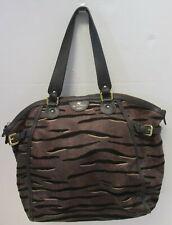 ETRO brown medium paisley & velvet animal print coated canvas shoulder bag M