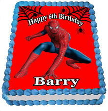 SPIDER MAN  REAL EDIBLE ICING  CAKE TOPPER PARTY IMAGE FROSTING SHEET