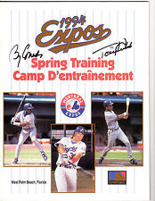 1994 Montreal Expos Program auto / signed Tony Kubek & Billy Connors
