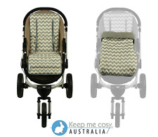Keep Me Cosy™  2 in 1 Infant Footmuff + Universal Pram Liner set - Grey Chevron