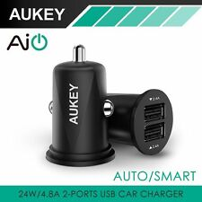 Aukey Dual Micro USB Mini Car Charger Cigar Lighter Portable universal adapter