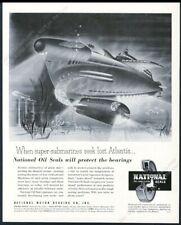1952 streamlined future submarine Arthur Radebaugh art Nmb vintage print ad
