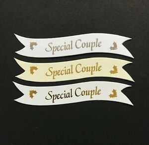 Special Couple Christmas banners / card toppers / embellishments sentiments pk10