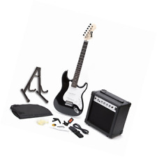 RockJam Full Size Electric Guitar Superkit with Amp, Strings, Tuner, Strap, Case