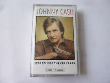 JOHNNY CASH ~ 1958 TO 1986 THE CBS YEARS ~ COUNTRY~ DOUBLE PLAY CASSETTE TAPE