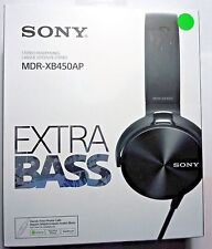 Sony MDR-XB450AP/B Headband Headphones Extra Bass with Microphone-Black