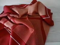 Vintage Halstuch Schal Tuch 60er 70er  Kopftuch Schultertuch Punkte bordeaux