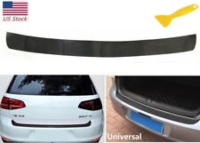 US 4D Carbon Fiber Auto Rear Trunk Tail Lip Protect Decal Sticker Car Styling