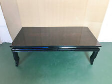 Chinese Lacquered Coffee Table with Ancient Horse and Litter Designs