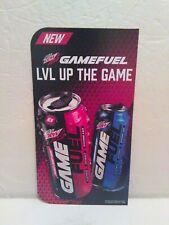 Mountain Dew Game Fuel Store Retail Shelf 6 x11 Display Sign PROMO RARE NEW