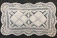 """6 Pcs 100% Cotton Handmade Fine Crochet Lace 8x13"""" Placemat Mat Doily"""