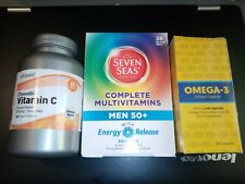 28 x Seven Seas Complete Multivitamins Men 50+ /+60 Vitamin C + 28 Omega 3 *****